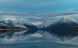 Un inverno in Glacier National Park Fotografie Stock