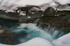 Un invierno en Parque Nacional Glacier Fotografía de archivo