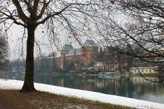 Un invierno en Turín Foto de archivo libre de regalías