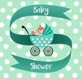 Un invito piacevole per la vostra doccia di bambino Illustrazione di Stock