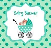 Un invito piacevole per la vostra doccia di bambino Illustrazione Vettoriale