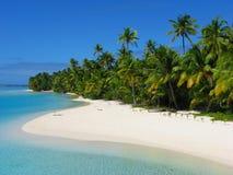 Un'isola del piede, Isole Cook Fotografie Stock Libere da Diritti