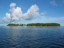 Un'isola Maldive Fotografia Stock Libera da Diritti