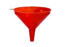 Un isolement blanc de fond d'entonnoir rouge Photo stock