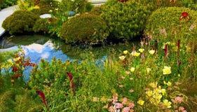 Un jardín de la demostración en Chelsea Flower Show imagen de archivo libre de regalías