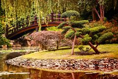 Un jardín hermoso en estilo chino foto de archivo libre de regalías