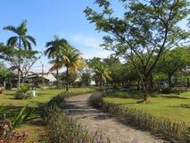 Un jardin dans Serpong Images libres de droits