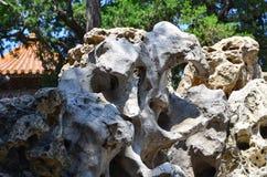 Un jardin de rocaille dans le Cité interdite Image libre de droits