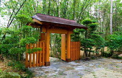Un jardín japonés tradicional famoso Foto de archivo libre de regalías