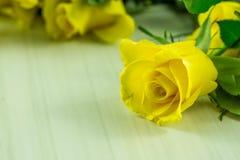 Un jaune s'est levé Photographie stock libre de droits