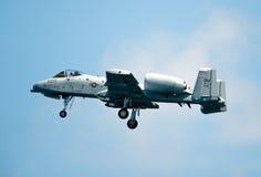 Un jet del ataque de 10 Warthog Foto de archivo