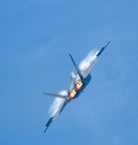 Un jet F-22 Fotografie Stock Libere da Diritti