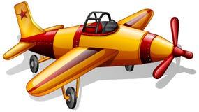 Un jetplane de vintage illustration libre de droits