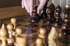 Un jeu d'échecs Images stock