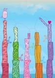 Un jeu d'amour plus de derrière Template_eps Images libres de droits