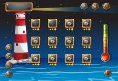 Un jeu d'ordinateur Image libre de droits