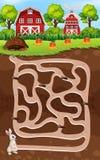 Un jeu de labyrinthe de lapin illustration libre de droits