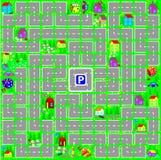 Un jeu de société pour les enfants en bas âge avec une matrice Photo stock