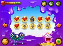 Un jeu vidéo avec des monstres Photo libre de droits