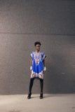 Un, jeune adulte, femme américaine d'africain noir, 20-29 ans, bla Image libre de droits