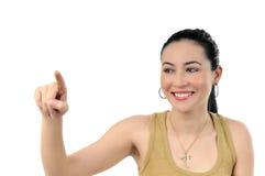 Un jeune beau femme effectuant le choix Image libre de droits