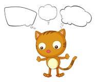 Un jeune chat avec des pensées vides Photographie stock libre de droits
