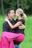 Un jeune couple Photographie stock