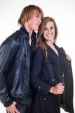 Un jeune couple Image stock