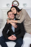 Un jeune couple attrayant Peut-être style d'affaires ou un couple dans l'amour Photo stock