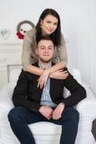 Un jeune couple attrayant Peut-être style d'affaires ou un couple dans l'amour Photographie stock