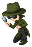 Un jeune détective futé Photos stock