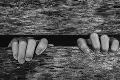 Un jeune esclave de garçon emprisonné Photographie stock