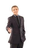 Un jeune et bel homme d'affaires dans des vêtements formels Images libres de droits