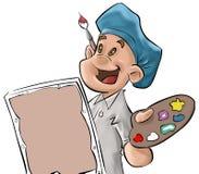 Un jeune garçon et les arts illustration de vecteur
