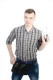 Un jeune homme au travail Images libres de droits