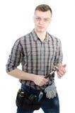 Un jeune homme au travail Photos libres de droits