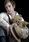 Un jeune homme triste Photographie stock