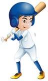 Un jeune joueur de baseball Photographie stock libre de droits