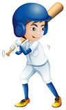Un jeune joueur de baseball illustration stock