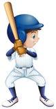 Un jeune joueur de baseball masculin illustration libre de droits