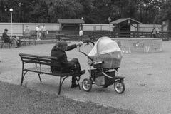 Un jeune père Photographie stock