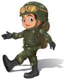 Un jeune soldat illustration stock