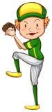 Un joueur de baseball Images libres de droits