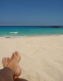 Un jour à la plage Image stock