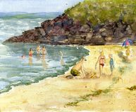 Un jour à la plage Image libre de droits