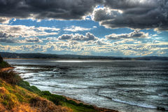 Un jour d'hivers à la côte Images stock