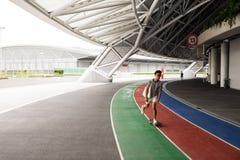 Un jour dans le stade de ressortissant de Singapour Images stock
