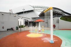 Un jour dans le stade de ressortissant de Singapour Images libres de droits