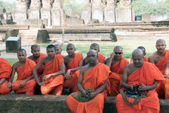 Un jour de moines  Photographie stock