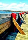 Un jour ensoleillé au dock de gouvernement dans Ontario du nord Images stock